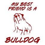 Best Friend Bulldog Red