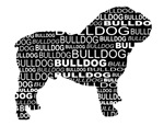 Bulldog Text Design