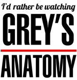 I'd rather be watching Grey's Anatomy t-shirts