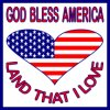 USA Heart--God Bless USA