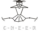 Color Me Cheerleader Stick Figure T-shirts Gifts