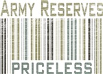 Army Reserves Priceless Barcode T-shirts & Gifts