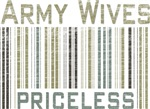 Army Wives Priceless Barcode T-shirts & Gifts