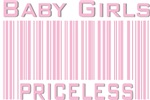 Pink Baby Girls Priceless New Mom T-shirts Gifts