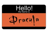 Hello My Name Dracula Halloween T-shirts & Gifts