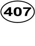 407 Orlando Area Code Oval T-shirts & Gifts