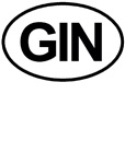 GIN Alcohol Booze Drink Oval T-shirts & Gifts