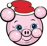 Cute Santa Pig Cartoon Christmas T-shirts & Gifts