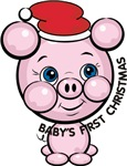 Cute Pig Baby's First Christmas T-shirts & Gifts