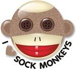 I Heart Love Sock Monkey Monkeys T-shirts & Gifts