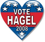 Vote Chuck Hagel 2008 Political T-shirts & Gifts