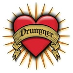 Drummer Tattoo Heart Art T-shirts & Gifts
