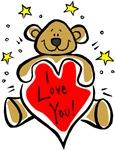 I Love You Bear T-shirts & Gifts