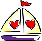 I love Boats T-shirts & Gifts
