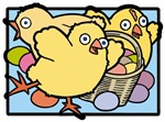 Three Easter Chicks Illustration T-shirts & Gifts