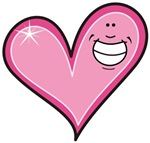 Pink Heart Cartoon Smile Smiley T-shirts & Gifts