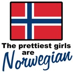 The Prettiest Girls are Norwegian T-shirts & Gifts