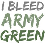 I Bleed Army Green Military T-shirts Gifts