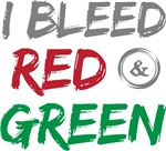 Christmas I Bleed Red Green T-shirts Gifts
