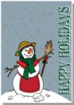 Christmas Lady Snowman Illustration T-shirts Gifts