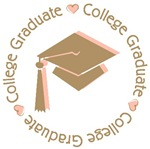 Cute Pink College Graduate T-shirts Gifts