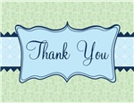 Green Navy Blue Elegant Thank You Notes Gifts