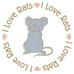 Sweet I Love Rats Grey T-shirts Gifts