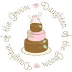 Daughter of the Groom Cake T-shirts Gifts