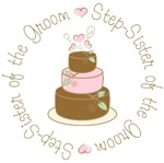 Step-Sister of the Groom Cake T-shirts Gifts