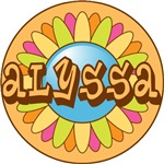 Alyssa Name Bright Colored Flower T-shirts Gifts