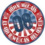 John McCain A Leader we Can Believe In T-shirts Gi