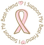 Breast Cancer Support Best Friend T-shirts Gifts