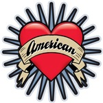 American Tattoo Heart T-shirts Gifts