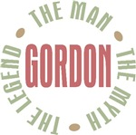Gordon the Man the Myth the Legend T-shirts Gifts