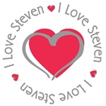 I Love Heart Steven Personalized T-shirts Gifts