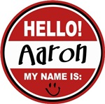 Hello My Name is Aaron Tag T-shirts Gifts