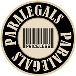 Paralegals Priceless Bar Code T-shirts Gifts