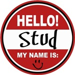 Hello my name is Stud Tag T-shirts Gifts