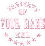 Property Of Girls Names Personalized T-shirts Gift