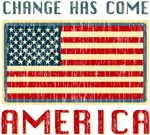 Change has Come America Obama Distressed T-shirts