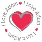I Love Heart Adam Tees Gifts