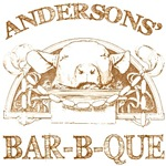 Anderson Last Name Vintage Bar-B-Que Tees Gifts