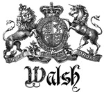 Walsh Vintage Family Crest Last Name Tees Gifts