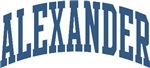 Collegiate Style Alexander Last Name Tees Gifts