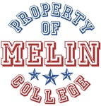 Property of Melin Last Name College T-shirts Gifts