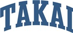 Takai Last Name Collegiate Tees Gifts