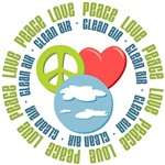 Peace Love Clean Air Ecology Tees Gifts