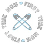 First Time Mom Blue Tees and Gifts