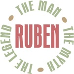 Ruben the Man Myth Legend Tees Gifts