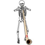 Skeleton Alpenhorn Player